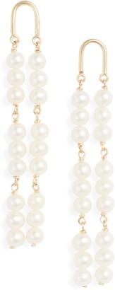 Poppy Finch 14K Gold Arch Pearl Earrings