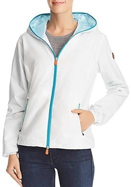 Save The Duck Contrast Zip Hooded Packable Windbreaker Jacket