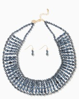 Charming charlie Cleo Beaded Collar Necklace Set