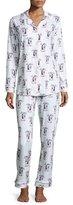 BedHead Printed Long-Sleeve Pajama Set, NYC Rooftop Party
