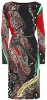 Etro Printed crepe-jersey dress