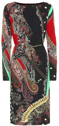 Etro Printed crepe-jersey dress