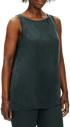 Eileen Fisher Bateau-Neck Shell Top
