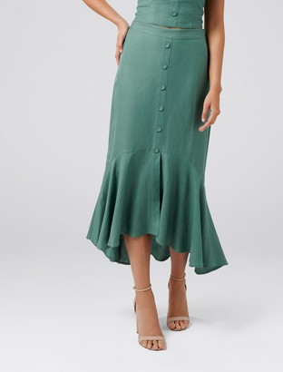 Forever New Lyla Co-ord Button Down Midi Skirt - Luscious Leaf - 4