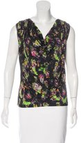 Jean Paul Gaultier Floral Print Draped Top