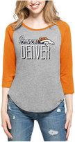 '47 Women's Denver Broncos Club Block Raglan T-Shirt