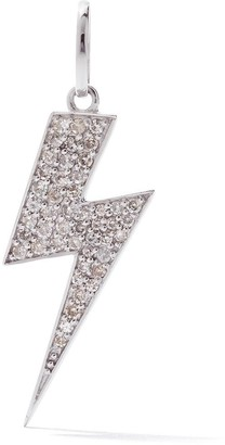 As 29 18kt white gold pave diamond long Flash pendant