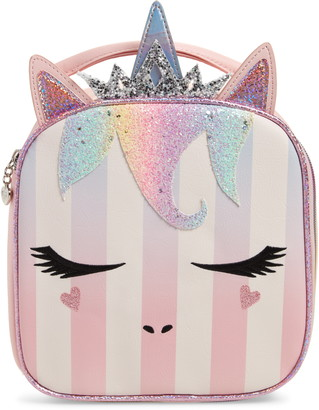 OMG Accessories OMG Queen Miss Gwen Striped Unicorn Lunch Bag