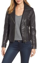 Halogen Petite Women's Leather Moto Jacket