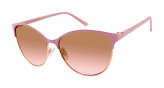 Tahari Women's TH763 Round Sunglasses with 100% UV Protection 59 mm