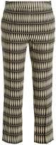 Lanvin Bois Joli-print slim-leg cropped trousers