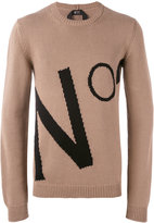 No.21 logo intarsia jumper - men - Cotton - 44