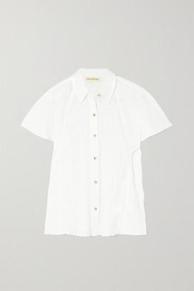 Mara Hoffman Phebe Smocked Organic Stretch-cotton Shirt - White