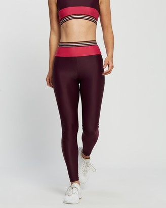 Horizon Women's Red Tights - The Hydrogen Olympia Leggings - Size One Size, XS at The Iconic