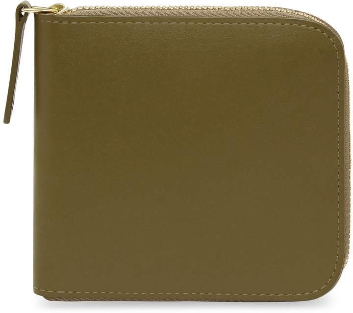 b6d1098ba5a3 Calf Men's Zip Around Wallet - Olive