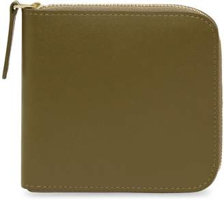 Mansur Gavriel Calf Men's Zip Around Wallet - Olive