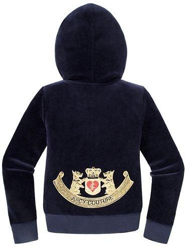 Juicy Couture Girls Original Jacket in Royal Scottie Velour