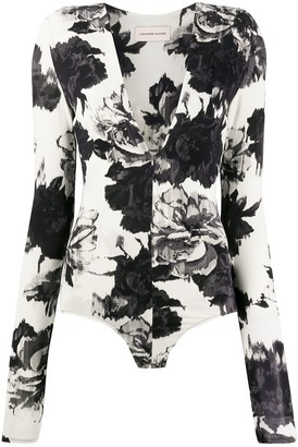 Alexandre Vauthier Shadow floral one piece