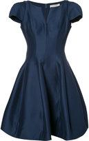 Halston flared dress - women - Cotton/Silk - 6