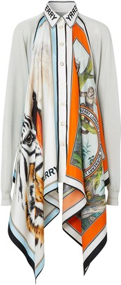 Burberry Animalia scarf detail knitted top