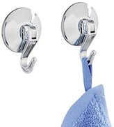 "Wenko Lever"" Suction Hook, Chrome, Small, 2-Piece"