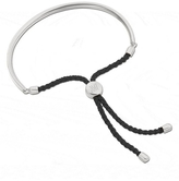 Monica Vinader Sterling Silver Black Cord Fiji Bracelet