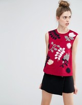 SPORTMAX CODE Sportmax Code Fiacre Embroidery Detail Sleeveless Top