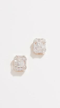 Adina Reyter 14k Gold Diamond Baguette Stud Earrings