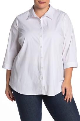 Como Vintage Stretch Solid Shirt (Plus Size)