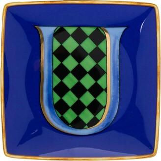 Versace Home Alphabet U plate (12cm)