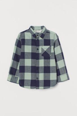 H&M Cotton Flannel Shirt - Green