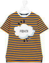 Fendi striped T-shirt - kids - Cotton - 6 yrs