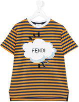 Fendi striped T-shirt - kids - Cotton - 8 yrs