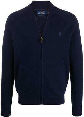 Polo Ralph Lauren logo embroidery zipped cardigan