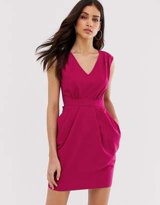 Closet London Closet tulip skirt tie dress-Pink