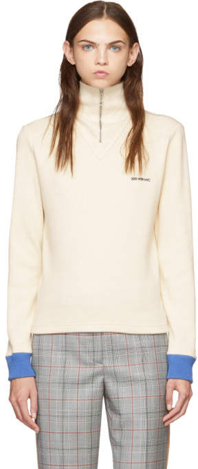 Calvin Klein White Half-Zip Sweater
