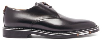 Burberry Humberton Logo And D-ring Leather Derby Shoes - Black