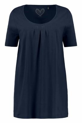 Ulla Popken Women's Faltchenshirt Uni A-line T-Shirt