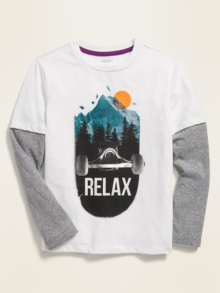 Old Navy 2-in-1 Graphic Crew-Neck Tee for Boys