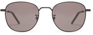 Saint Laurent Classic Round-frame Metal Sunglasses - Womens - Black