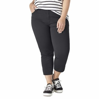Dickies Women's Size Plus Perfect Shape Twill Capris