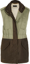 Rag & Bone Kinsley Cotton And Twill Gilet - Army green