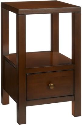 John Lewis & Partners Medan 1 Drawer Bedside Table, Dark Wood