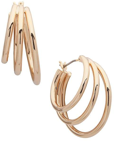 a1cb01e68699c Three Row Hoop Earrings
