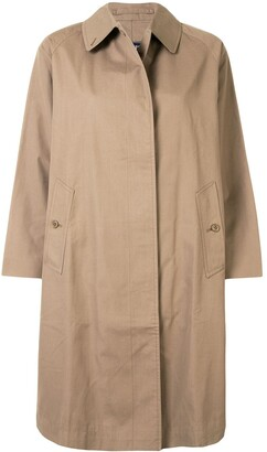 Burberry Pre-Owned Midi Length Trench Coat
