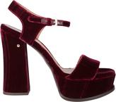 Laurence Dacade Perla Platform Velvet Sandals