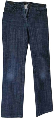 Chanel Blue Cotton Jeans for Women