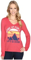 Life is Good Come Up Air Mountains Long Sleeve Cool Vee