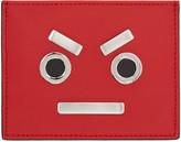 Fendi Red Faces Card Holder