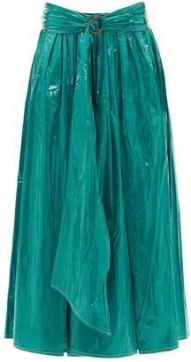 Sies Marjan Amalia Pvc-coated Satin Skirt - Green